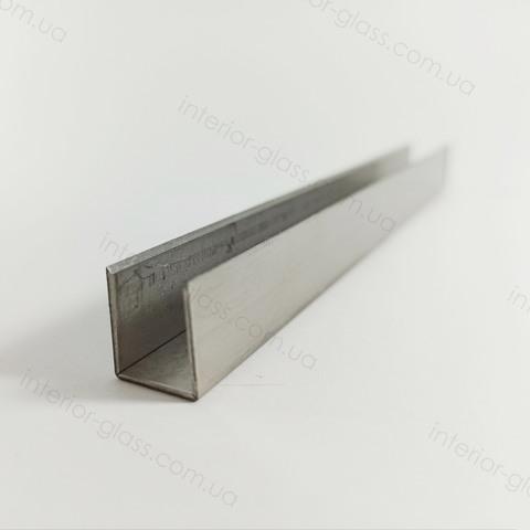 Швеллер, профиль нержавеющий 15x12x15 мм, L=3 м ST-502 SSS