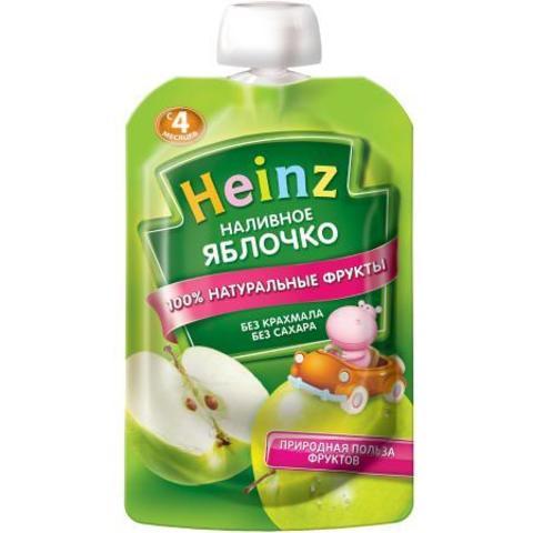Пюре Heinz Наливное яблочко пауч 100г с 4месяцев