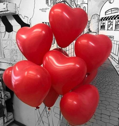 Набор шаров-сердец 10 шт  #158712