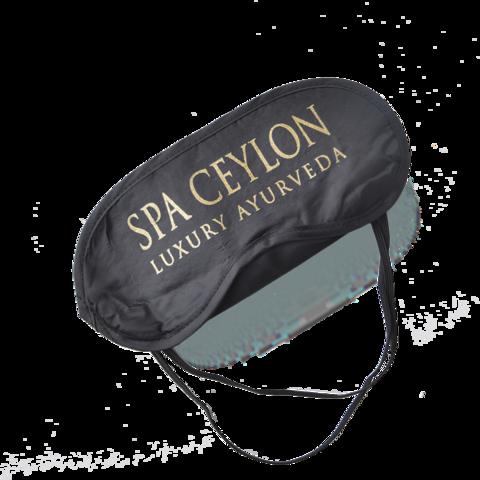 Маска для сна с носиком, двойная резинка, 18 × 8,5 см, цвет чёрный