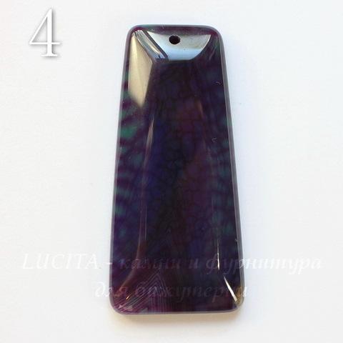Подвеска Агат (тониров), цвет - фиолетовый, 44-67 мм (№4 (56х26 мм))