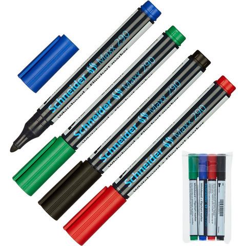 Набор маркеров для досок и флипчарт SCHNEIDER S290 набор 4цв.