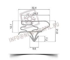 Уплотнитель 73*57 см для холодильника LG GR- B439 BVCA (морозильная камера) Профиль 003
