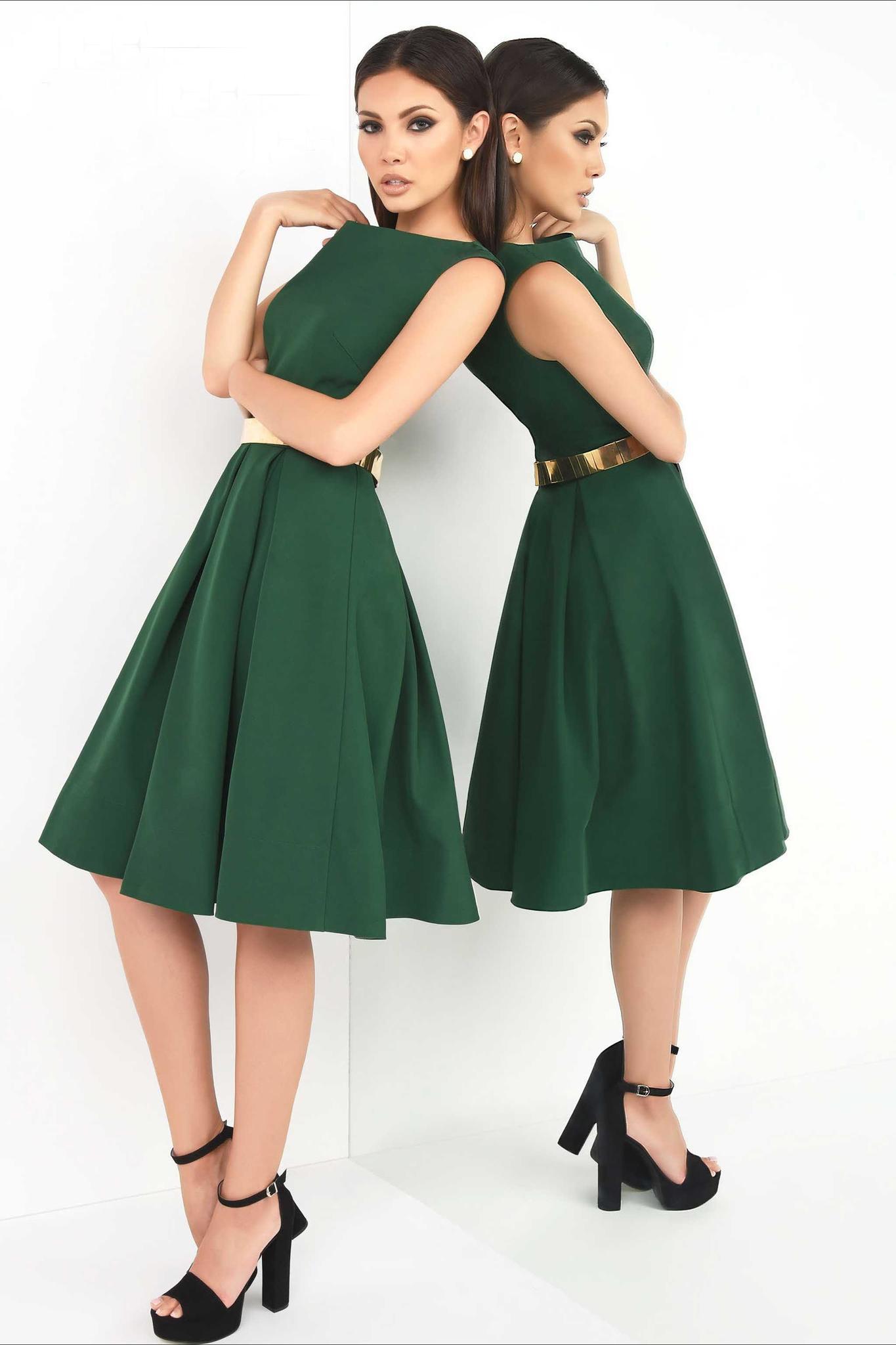 IEENA for Mac Duggal 16203 Платье с пышной юбкой, золотой пояс,цвет:глубокий зеленый