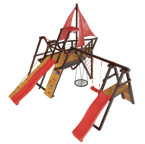Детская деревянная игровая площадка Каравелла