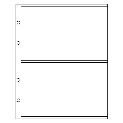 Лист для бон (купюр) на 2 ячейки
