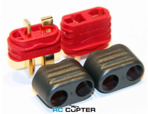 Разъём для батареи T-plug Dean (папа-мама) с кожухом для защитой провода (10 пар)