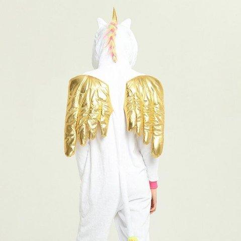 Кигуруми Единорог с золотыми крыльями