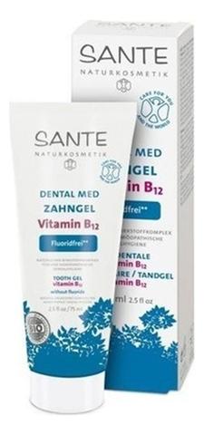Гелевая зубная паста с витамином В12 без фтора 75 мл (SANTE)
