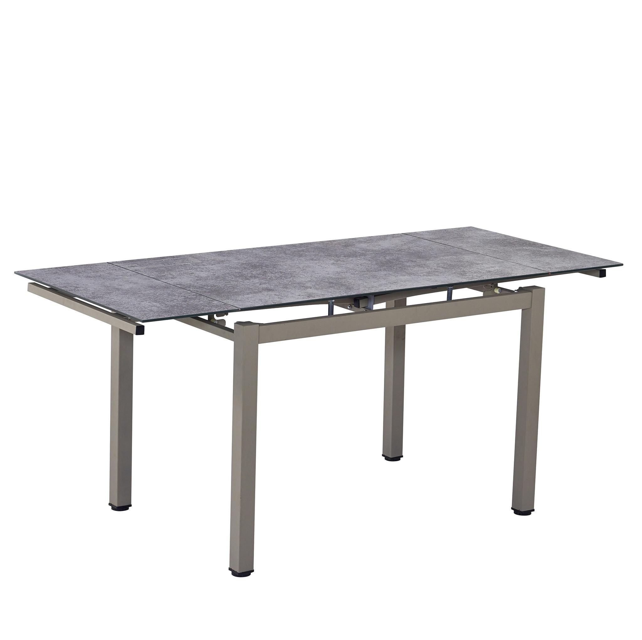Стол обеденный LIKE-2 (110) BROWN/LATTE (коричневый/латте)