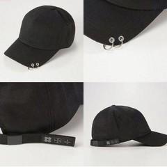 Кепка bts +с кольцами (Бейсболка бтс) черная