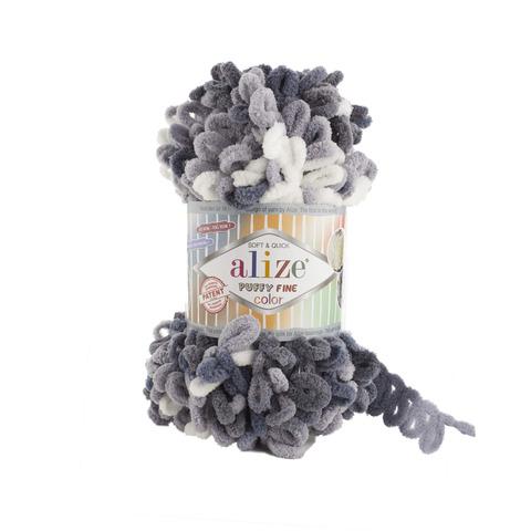 Купить Пряжа Ализе Пуффи Файн Колор Код цвета 5925   Интернет-магазин пряжи «Пряха»
