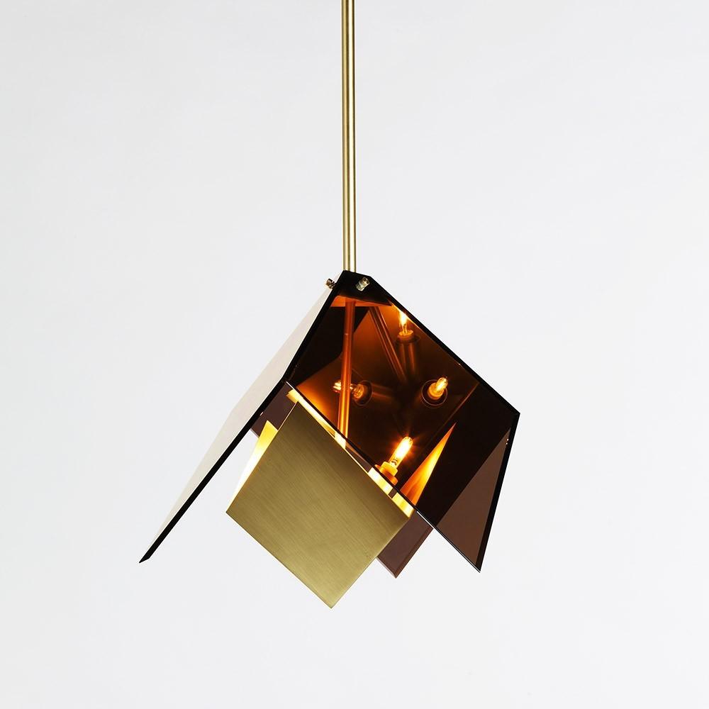 Подвесной светильник копия MAXEDRON by Roll & Hill (янтарный+золотой)