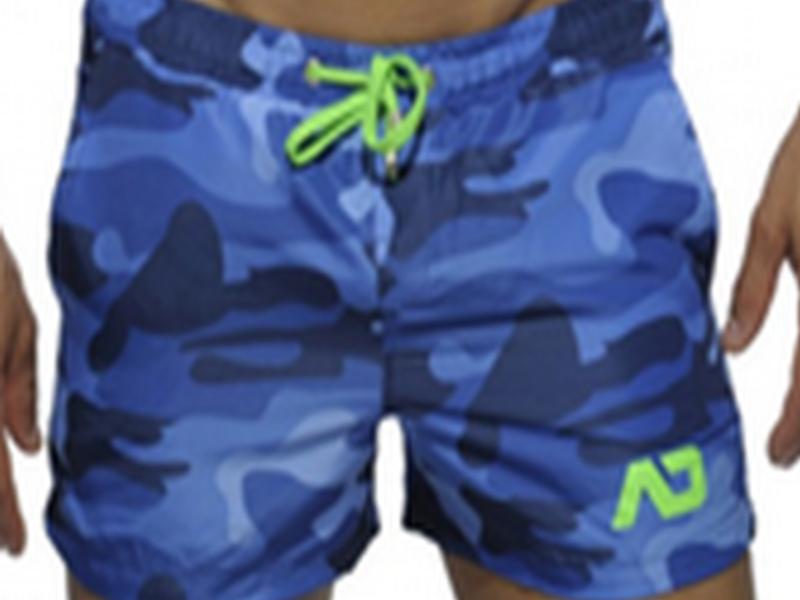 Мужские камуфляжные короткие шорты ADDICTED Синие