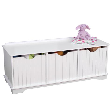 KidKraft Скамья с ящиками для хранения - белая 14564_KE