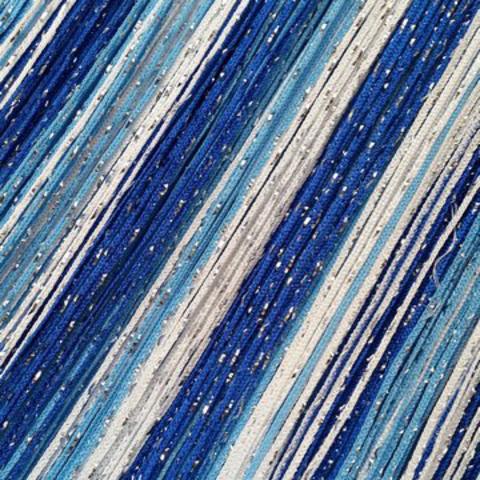 Шторы радуга дождь - Белые, голубые, синие. Ш-300см., В-280см. Арт. 1-11-208