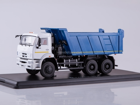 KAMAZ-6522 6x6 tipper restyling white-blue 1:43 Start Scale Models (SSM)