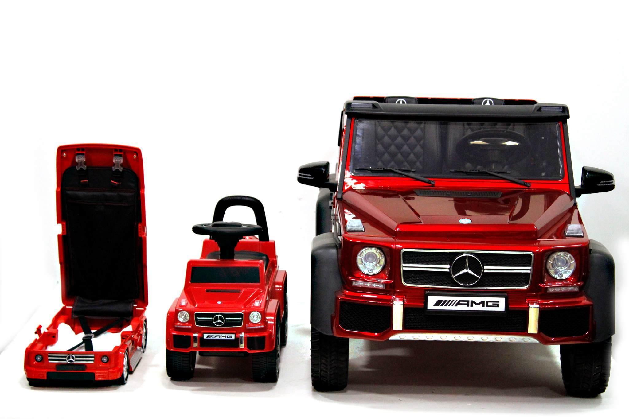 Детский чемодан Mercedes-Benz Gelandewagen Красный