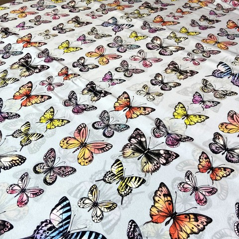 крепдешин Valentino шелковый с бабочками фото