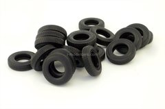 Tires set 20 pieces with wheels KAMAZ-5410 and semi-trailer tread-wave 1:43 Kharkiv Tires