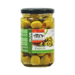 Оливки фаршированные крем пастой из перца Casa Rinaldi  280г