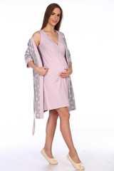 Мамаландия. Комплект для беременных и кормящих, лапки на сером/светло-сиреневый большие размеры вид 2