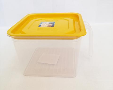 Контейнер 1.0L с крышкой и ручкой, пластик;