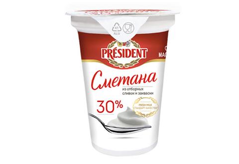 Сметана President 30%, 350 г