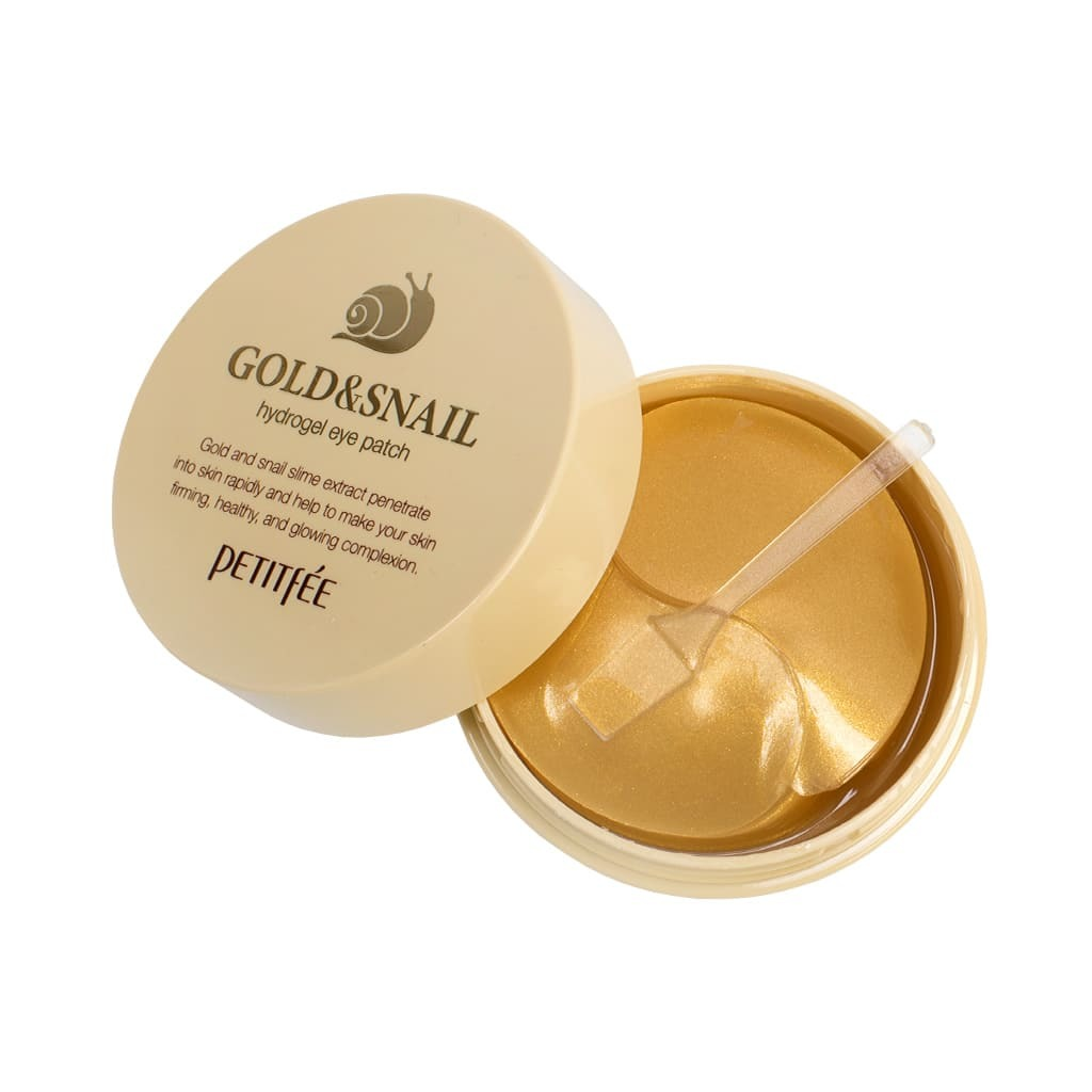 Гидрогелевые патчи для век с золотыми частицами и муцином улитки Petitfee Gold & Snail Hydrogel Eye Patch