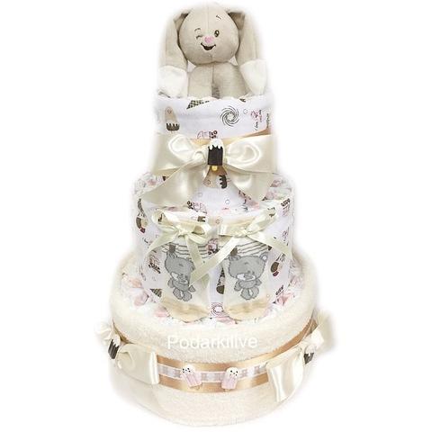 Торт из памперсов для любого пола малыша