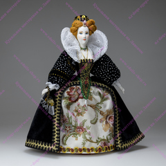 Кукла Елизавета Первая Английская