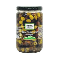 Оливки Casa Rinaldi Средиземноморские консервированные с косточкой 1500г