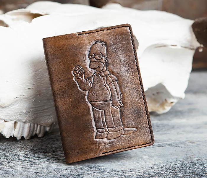 Boroda Design, Обложка на паспорт с Гомером Симпсоном, ручная работа