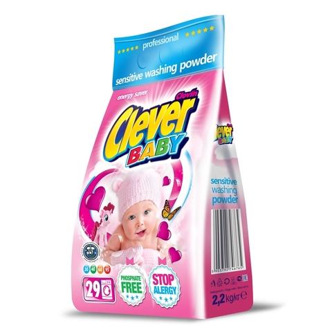 Детский стиральный порошок Clever Baby Sensitive 2,2 кг