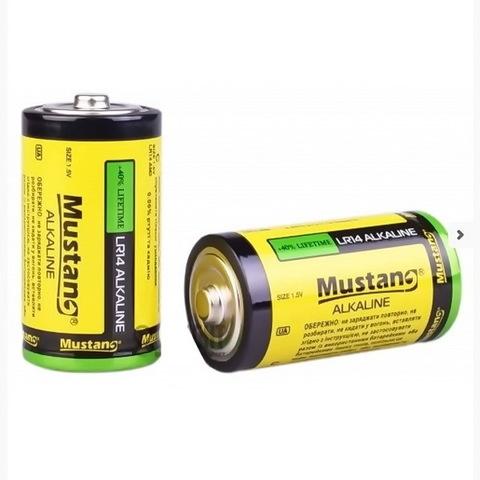 Батарейки Mustang Alkaline LR14, C (2/24)