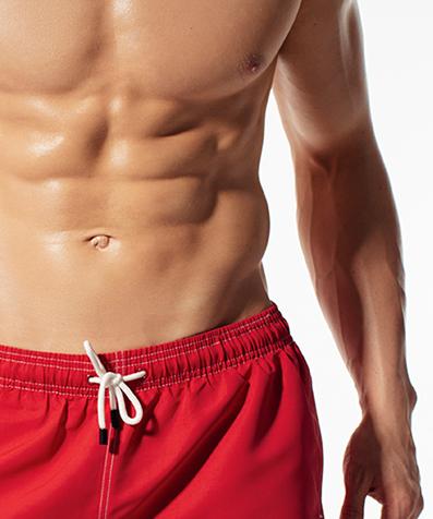 Укороченные шорты пляжные мужские KMB-180 Красные
