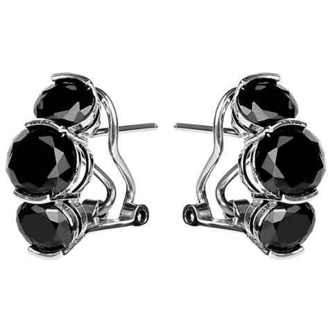 Серьги с черной нано шпинелью Арт. 2118н-шп