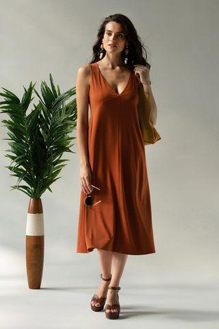 Платье 60429-3 терракотовый Laete