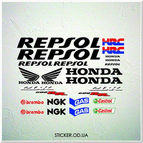 Набор наклеек для Honda