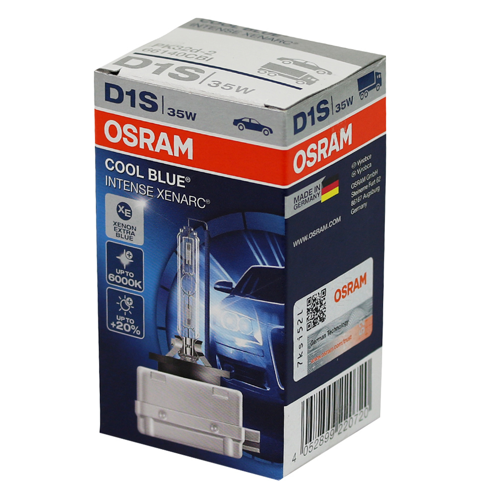 Ксеноновая лампа OSRAM D1S XENARC COOL BLUE INTENSE
