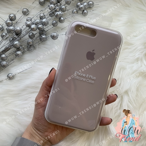 Чехол iPhone 7+/8+ Silicone Case /lavender/ лаванда 1:1