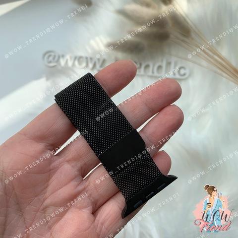 Ремешок Apple watch 42/44mm Milanese Loop /black/