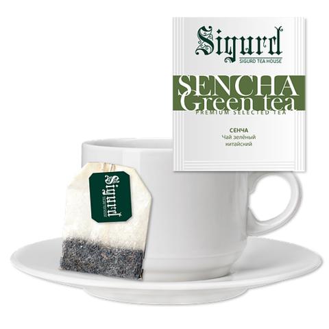 Чай Sigurd Сенча зеленый чашку (30 пак)