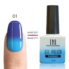 TNL, Термо гель-лак № 01 - васильковый/голубой, 10 мл