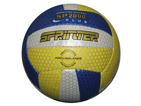 Мяч волейбольный Sprinter. Материал покрышки - кожзаменитель.