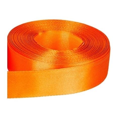 Лента атласная (размер 25 мм х 30 м) Цвет: оранжевая
