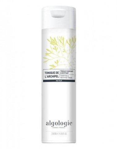 Очищающий матирующий тоник для жирной и смешанной кожи, Algologie,400 мл.
