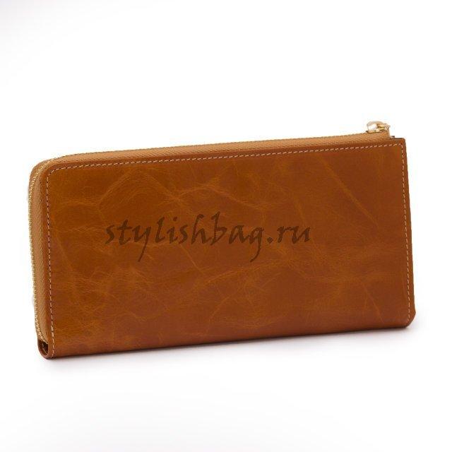 Женский кошелек на молнии JCCS j-1025 рыжего цвета