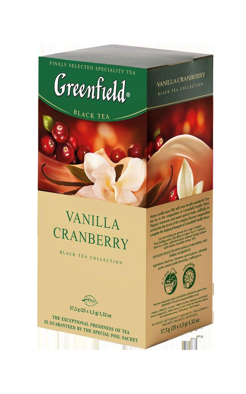 Greenfield Vanilla Cranberry в пакетиках, 25 шт