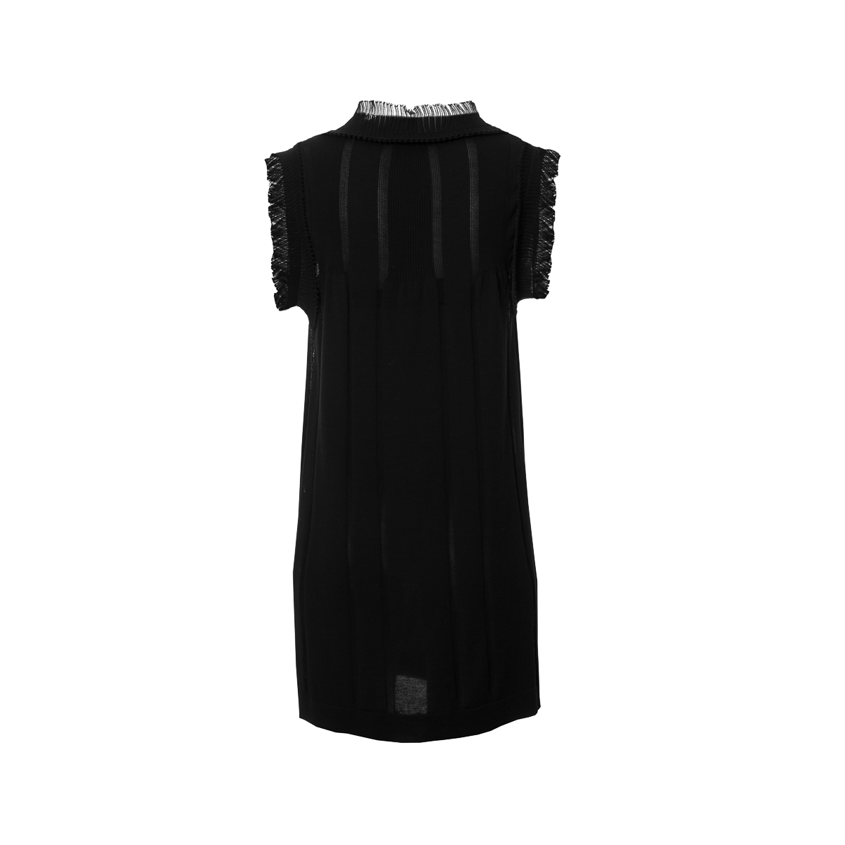 Stylish Chanel black dress, size 38